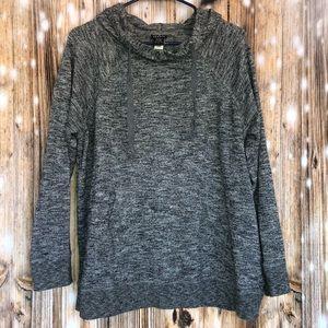 Torrid Black & White Marled Knit Hoodie Size 1x